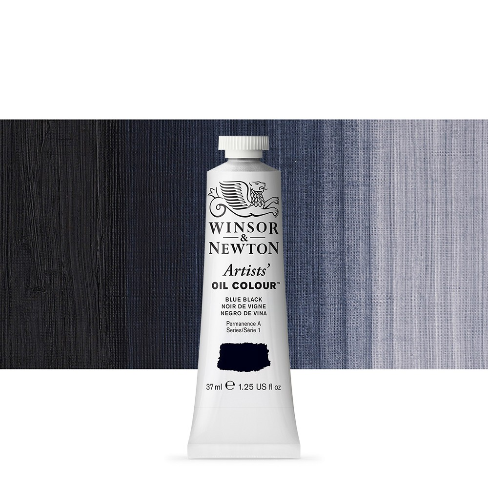 Winsor & Newton : Artists Oil Paint : 37ml Tube : Blue Black