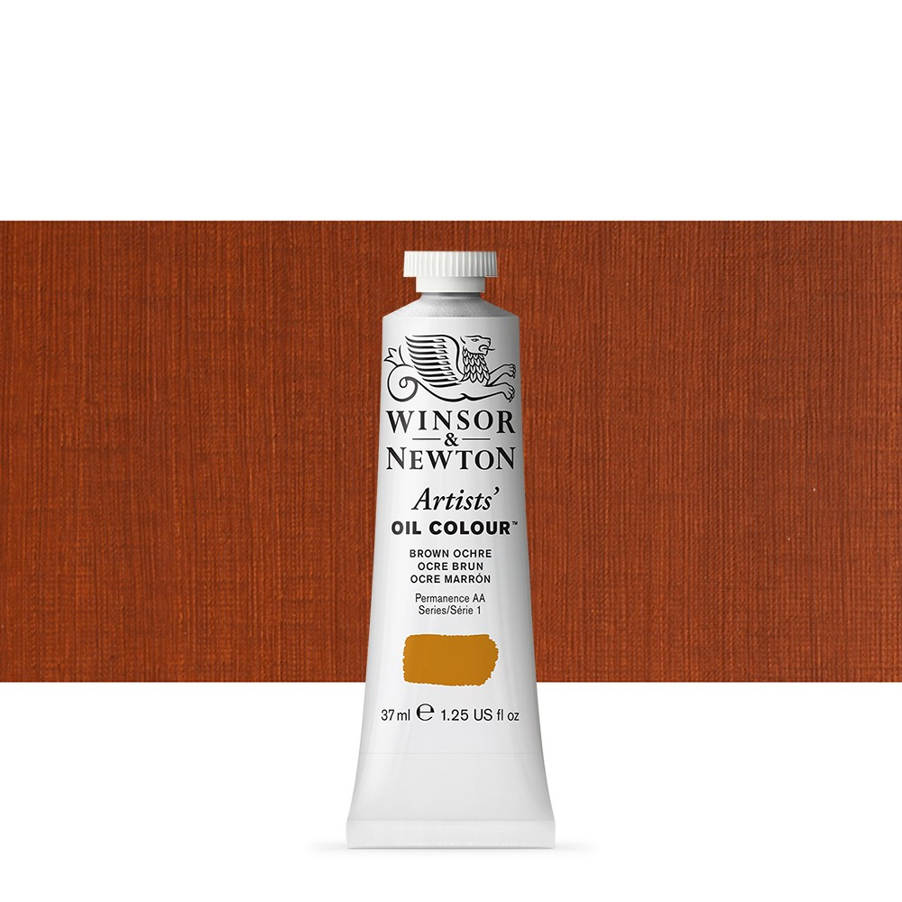 Winsor & Newton : Artists Oil Paint : 37ml Tube : Brown Ochre