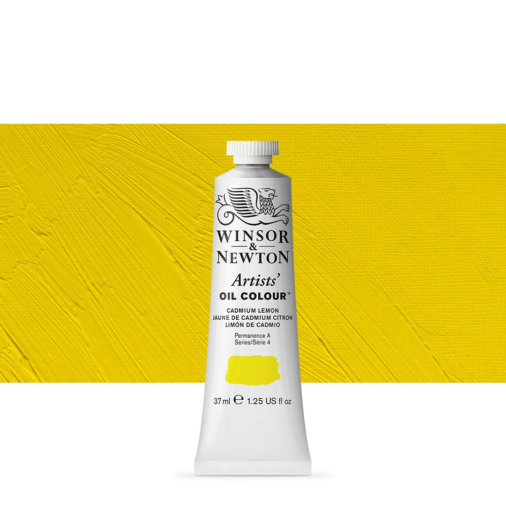 Winsor & Newton : Artists Oil Paint : 37ml : Cadmium Lemon