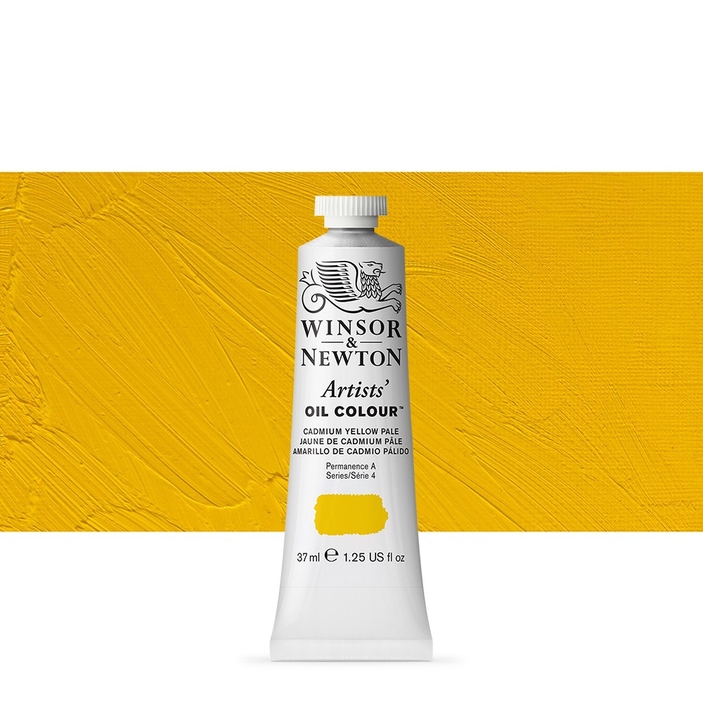 Winsor & Newton : Artists Oil Paint : 37ml Tube : Cadmium Yellow Pale