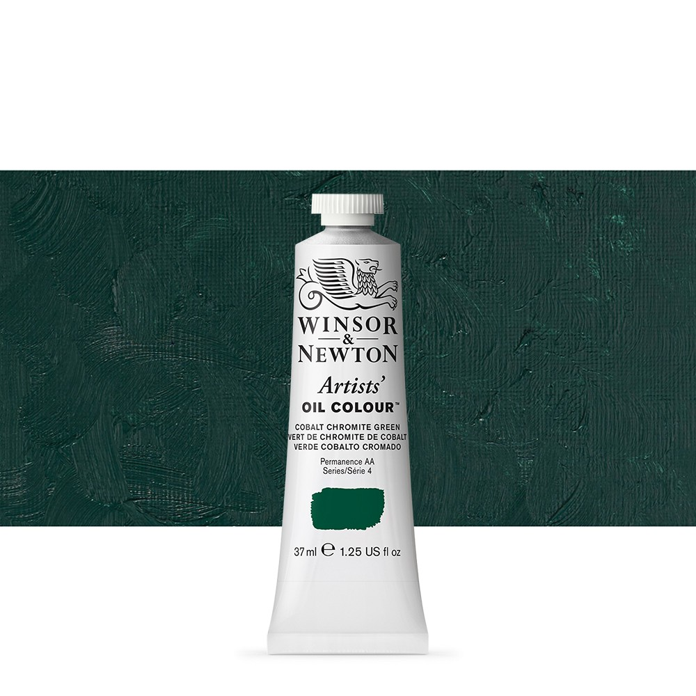 Winsor & Newton : Artists Oil Paint : 37ml Tube : Cobalt Chrome Green