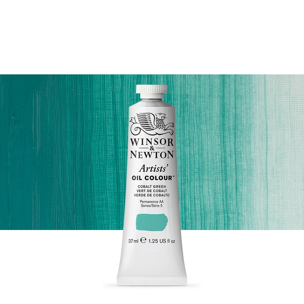 Winsor & Newton : Artists Oil Paint : 37ml Tube : Cobalt Green
