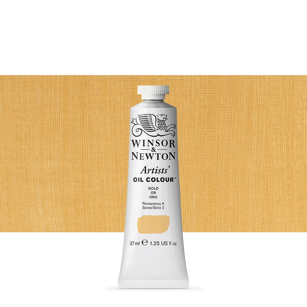 Winsor & Newton : Artists Oil Paint : 37ml Tube : Gold