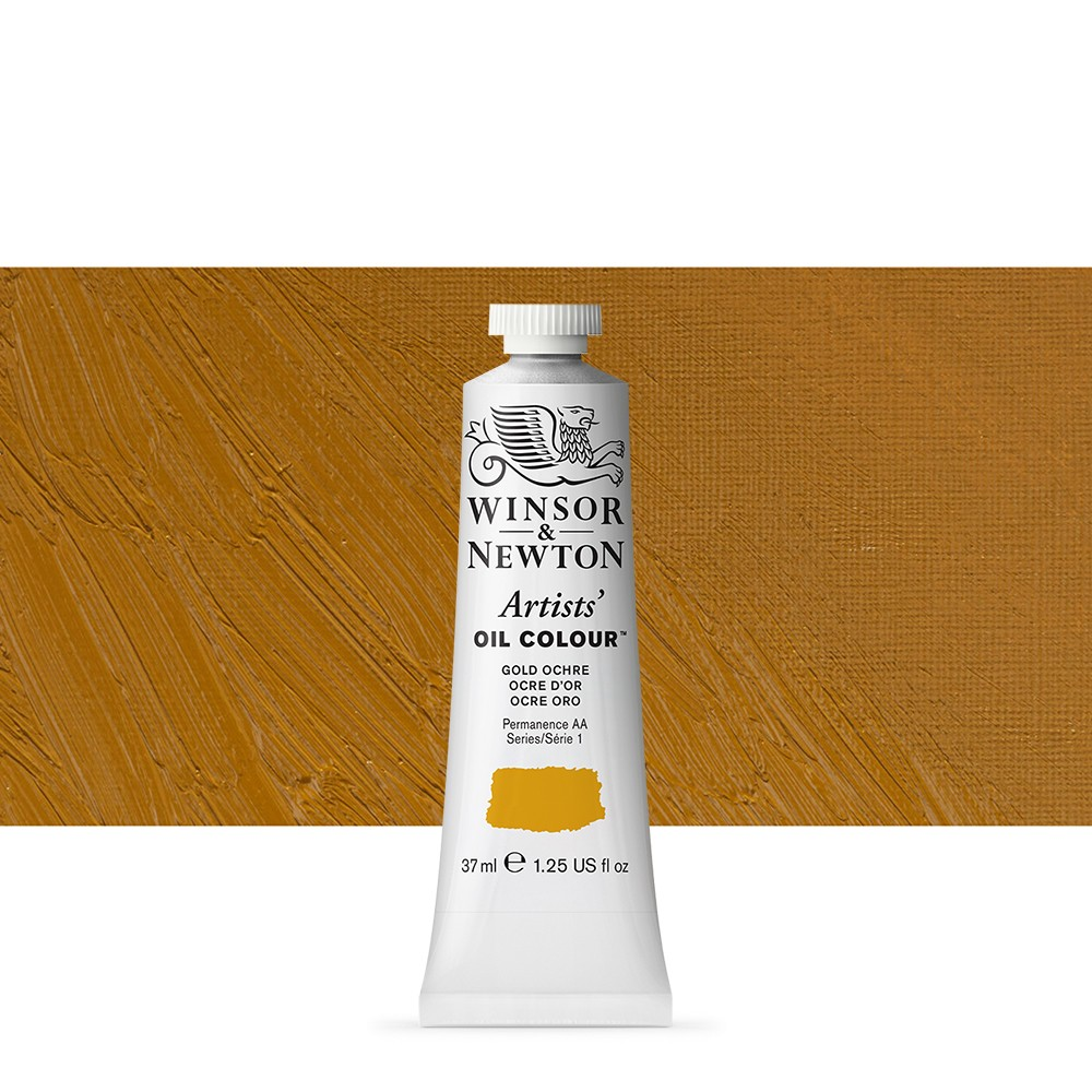 Winsor & Newton : Artists Oil Paint : 37ml Tube : Gold Ochre
