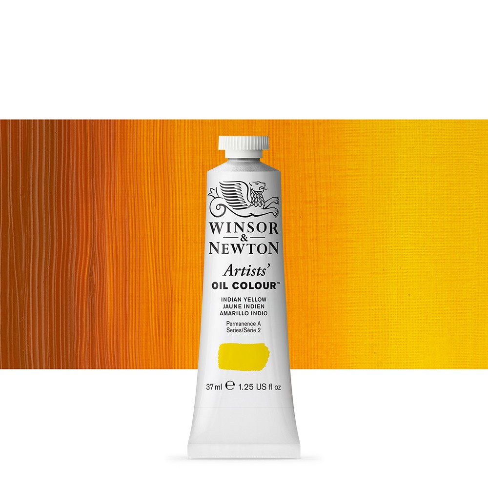 Winsor & Newton : Artists Oil Paint : 37ml : Indian Yellow