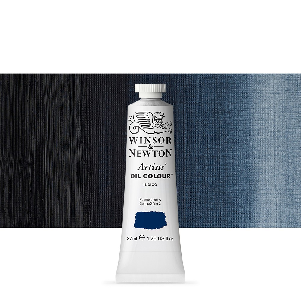 Winsor & Newton : Artists Oil Paint : 37ml Tube : Indigo