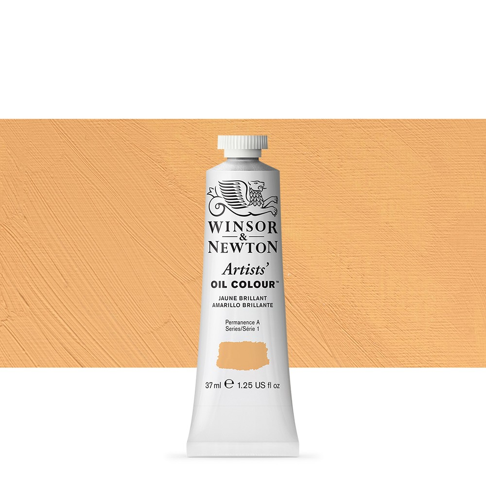 Winsor & Newton : Artists Oil Paint : 37ml : Jaune Brilliant