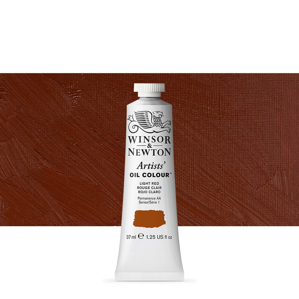 Winsor & Newton : Artists Oil Paint : 37ml Tube : Light Red