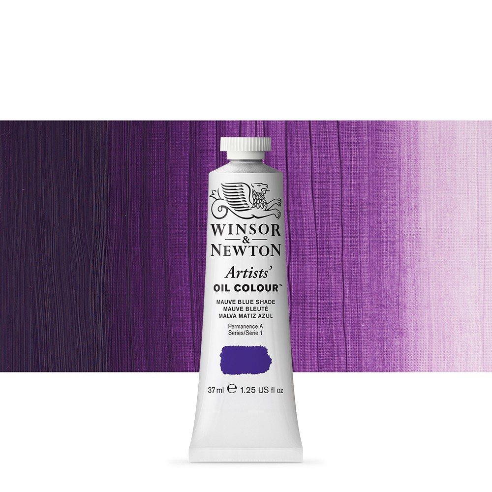 Winsor & Newton : Artists Oil Paint : 37ml Tube : Mauve (Blue)