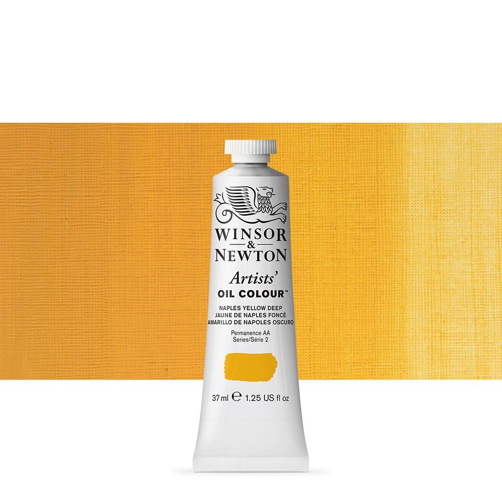 Winsor & Newton : Artists Oil Paint : 37ml Tube : Naples Yellow Deep