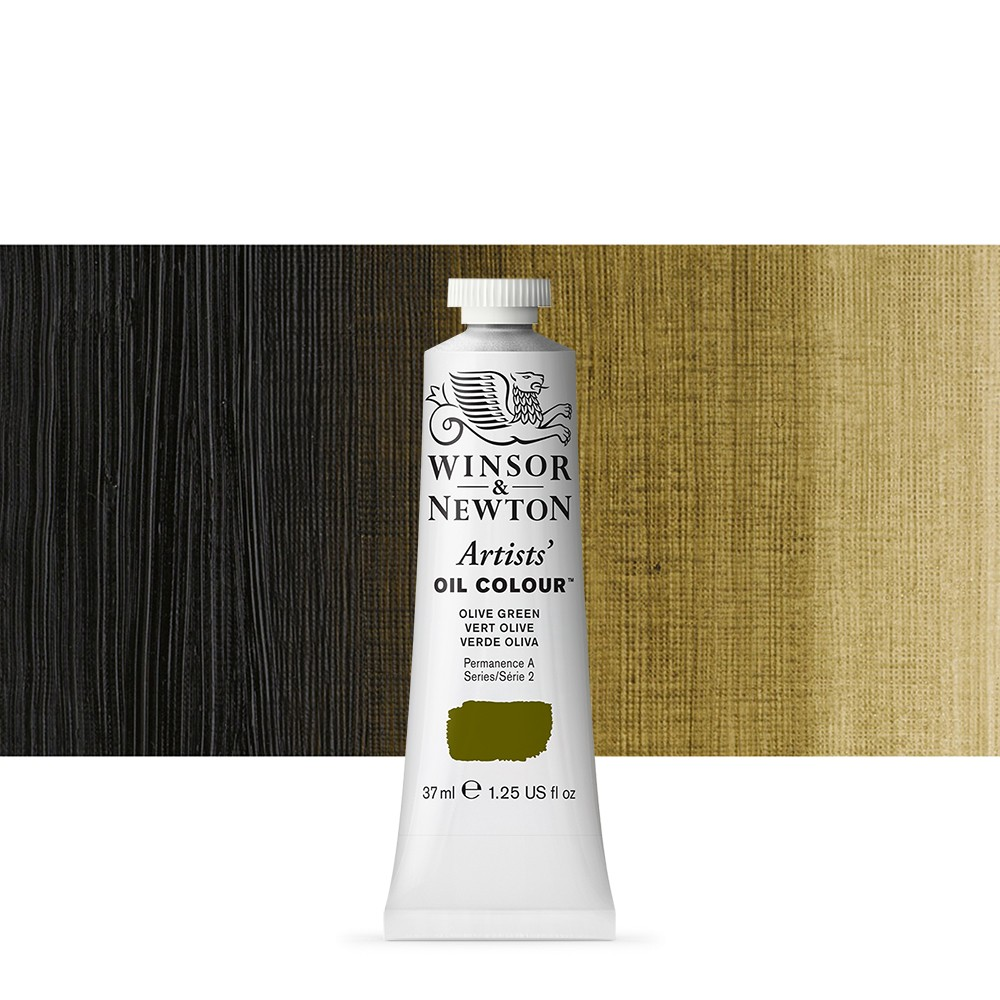 Winsor & Newton : Artists Oil Paint : 37ml Tube : Olive Green