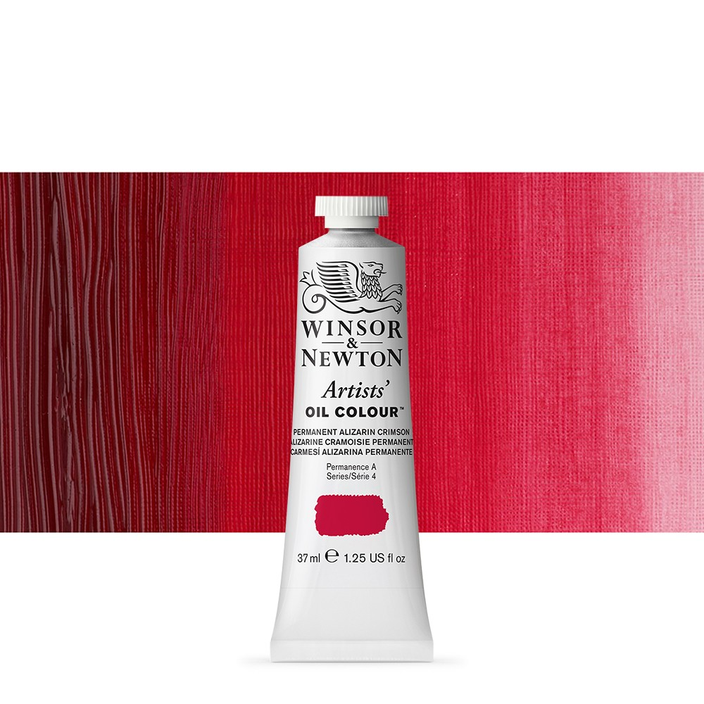 Winsor & Newton : Artists Oil Paint : 37ml Tube : Permanent Alizarin Crimson