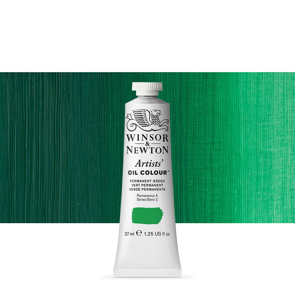 Winsor & Newton : Artists Oil Paint : 37ml Tube : Permanent Green