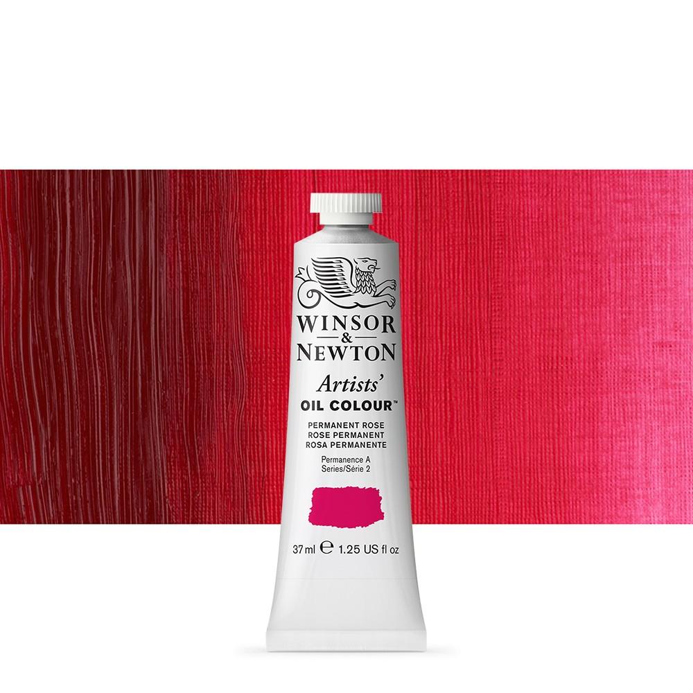 Winsor & Newton : Artists Oil Paint : 37ml : Permanent Rose