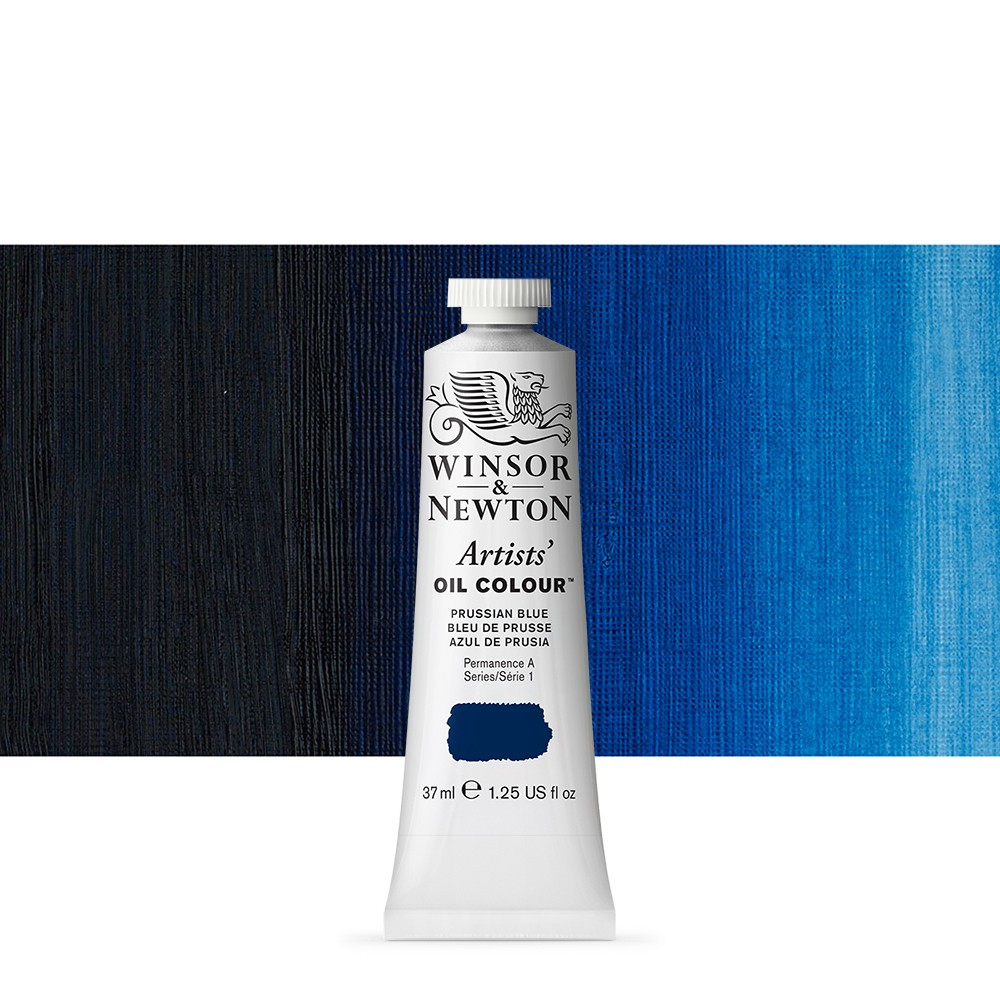 Winsor & Newton : Artists Oil Paint : 37ml Tube : Prussian Blue