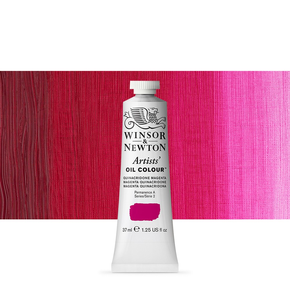 Winsor & Newton : Artists Oil Paint : 37ml : Quinacridone Magenta