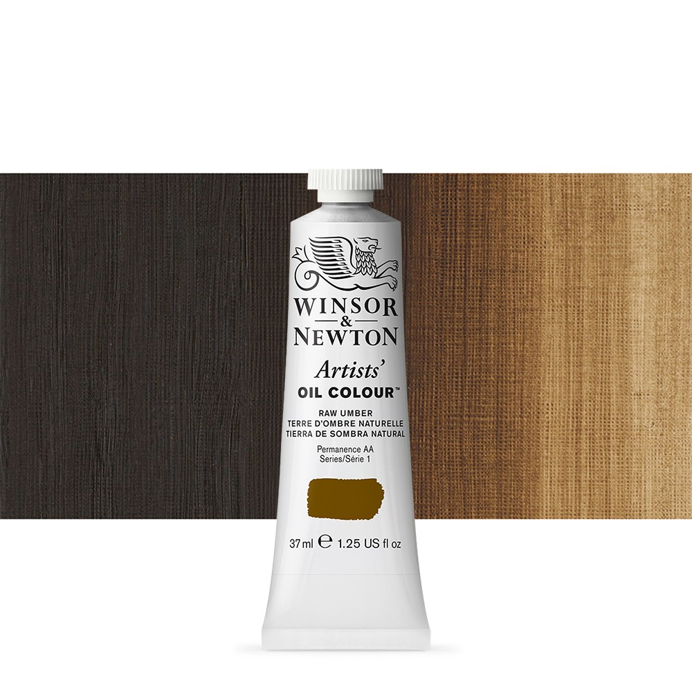 Winsor & Newton : Artists Oil Paint : 37ml Tube : Raw Umber