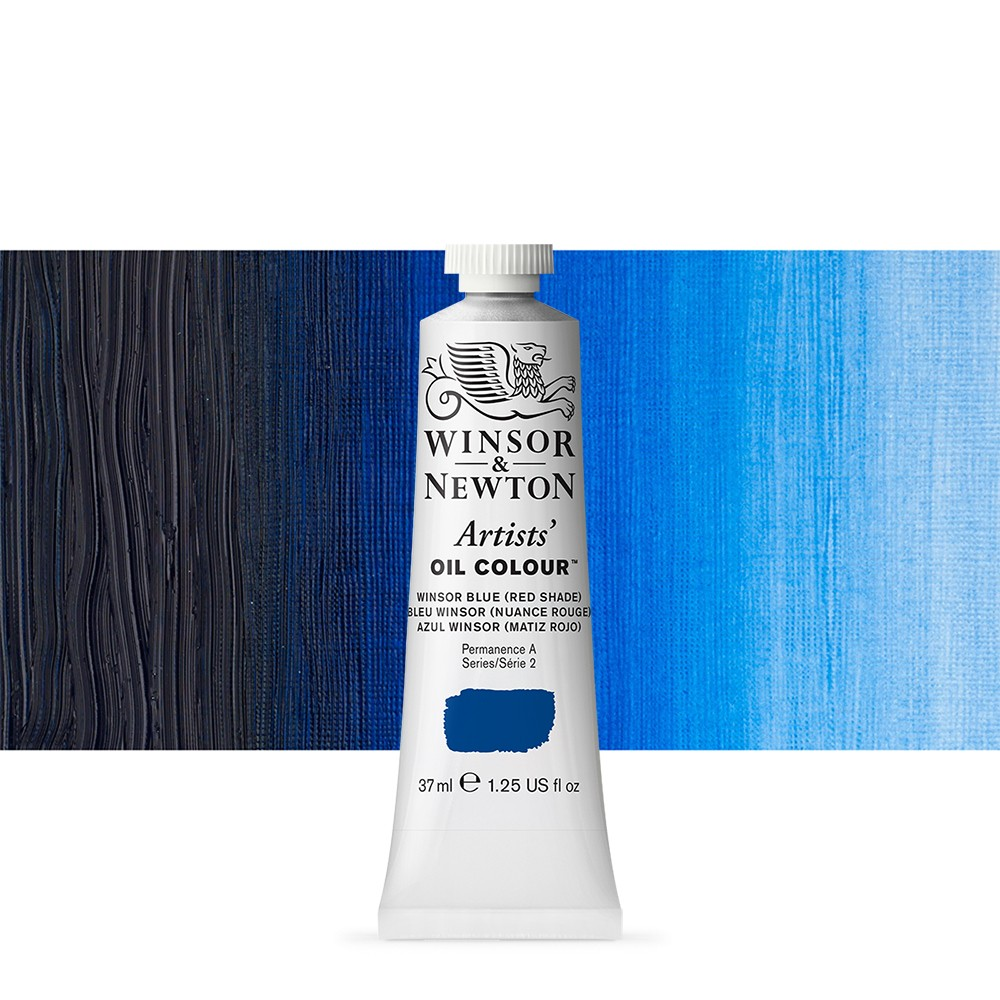 Winsor & Newton : Artists Oil Paint : 37ml : Winsor Blue (Red)