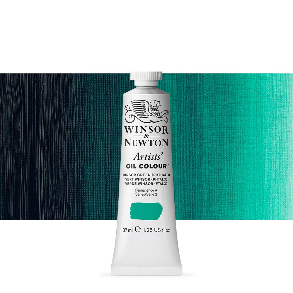 Winsor & Newton : Artists Oil Paint : 37ml Tube : Winsor Green