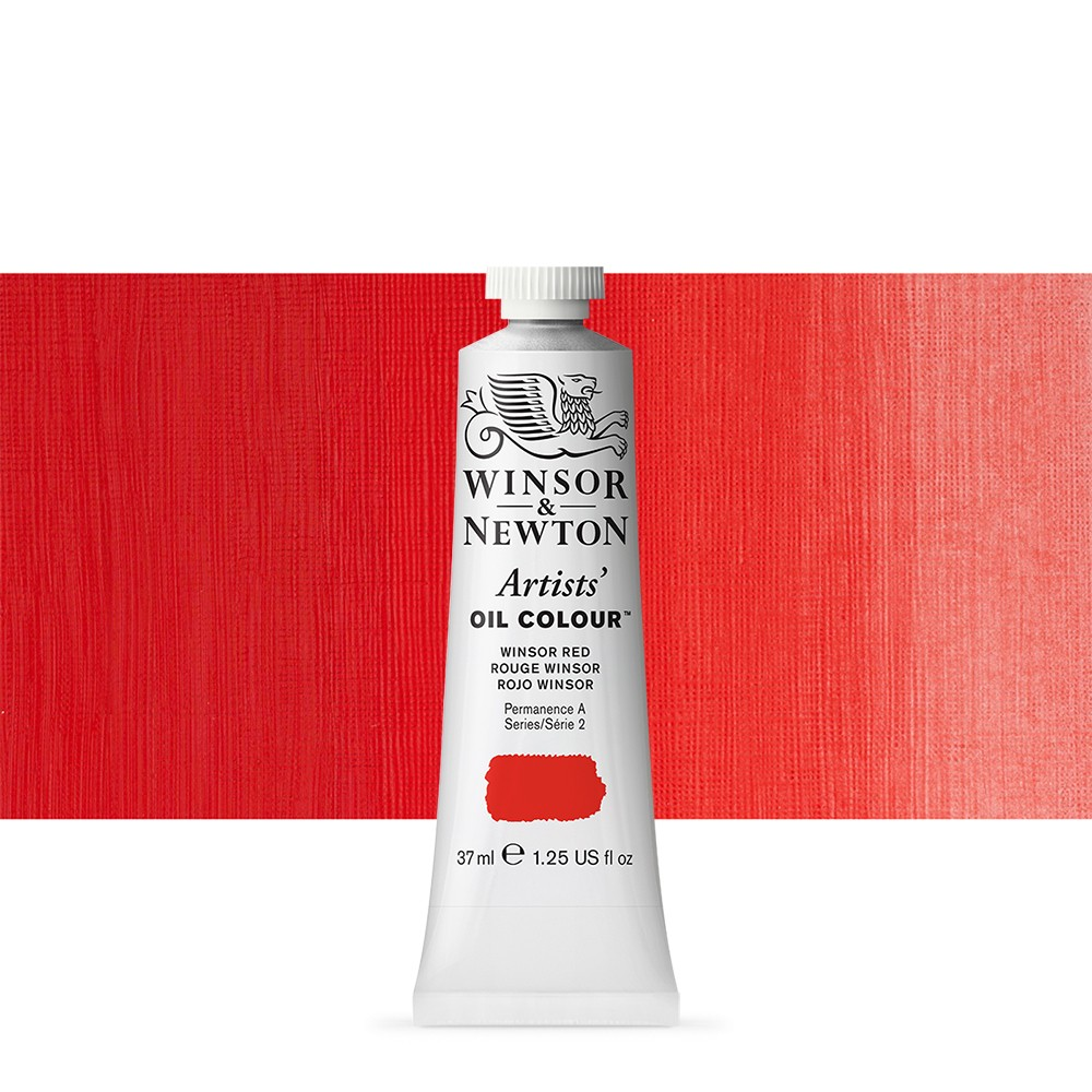 Winsor & Newton : Artists Oil Paint : 37ml : Winsor Red