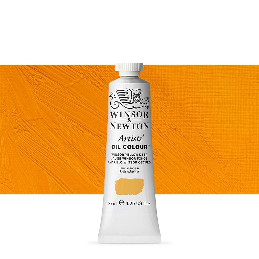 Winsor & Newton : Artists Oil Paint : 37ml Tube : Winsor Yellow Deep