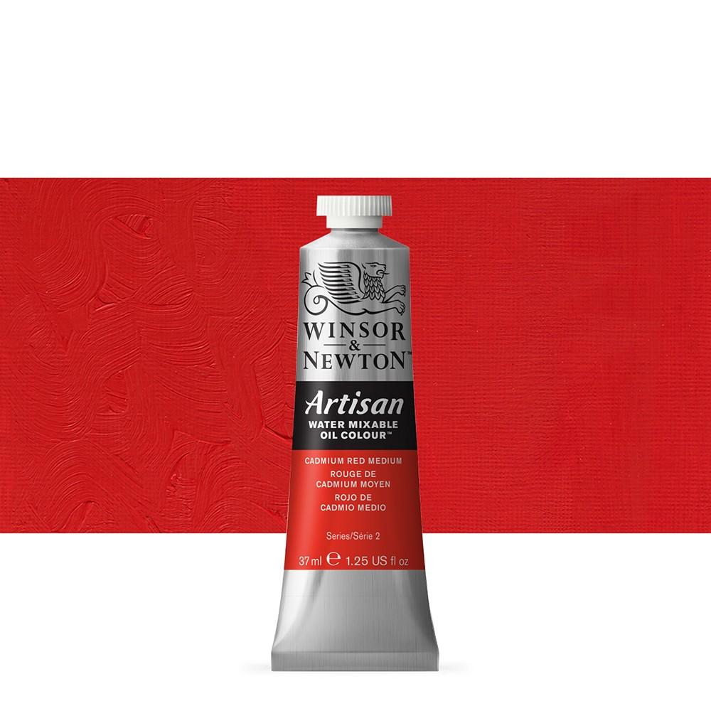 Winsor & Newton : Artisan Water Mixable Oil : 37ml : Cadmium Red Medium