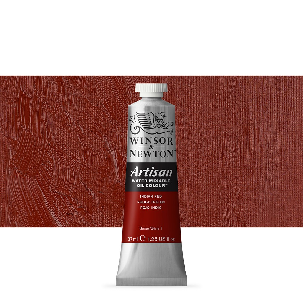 Winsor & Newton : Artisan Water Mixable Oil Paint : 37ml :Indian Red