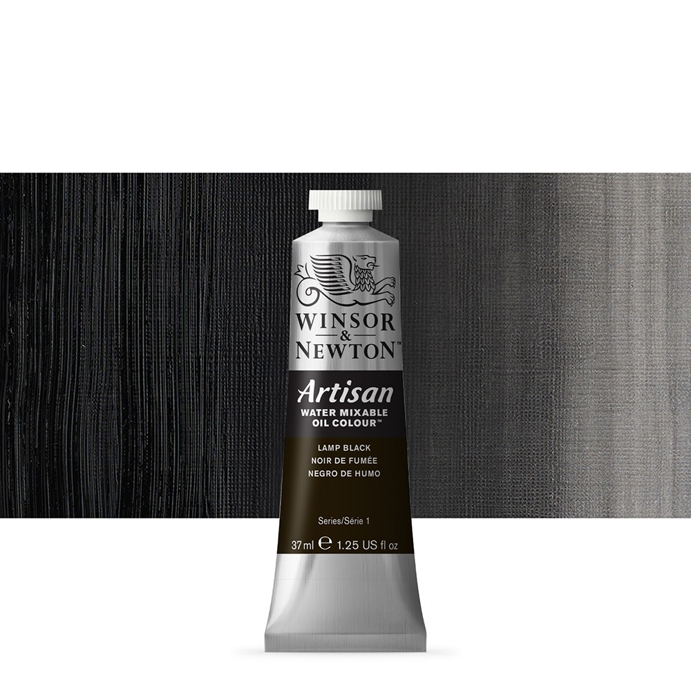 Winsor & Newton : Artisan Water Mixable Oil Paint : 37ml : Lamp Black