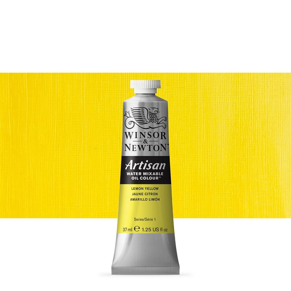 Winsor & Newton : Artisan Water Mixable Oil Paint : 37ml : Lemon Yellow