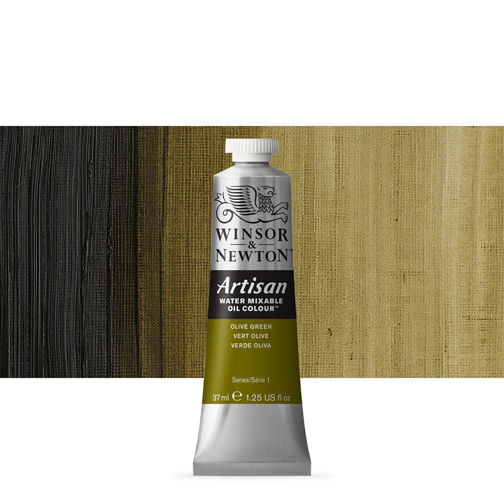 Winsor & Newton : Artisan Water Mixable Oil Paint : 37ml : Olive Green