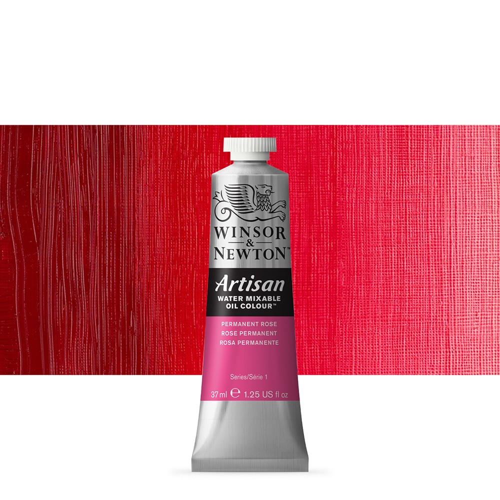 Winsor & Newton : Artisan Water Mixable Oil Paint : 37ml : Permanent Rose