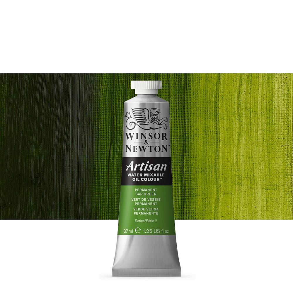 Winsor & Newton : Artisan Water Mixable Oil Paint : 37ml : Permanent Sap Green