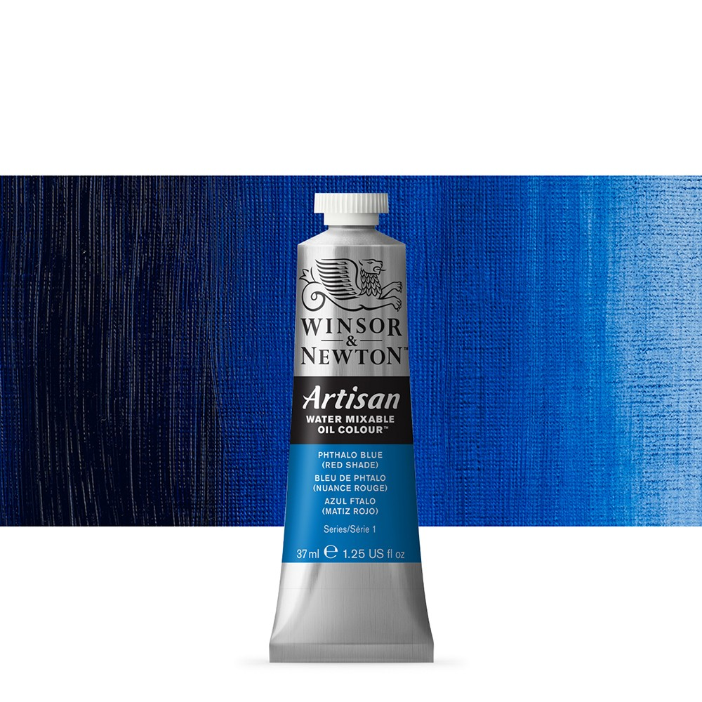 Winsor & Newton : Artisan Water Mixable Oil Paint : 37ml : Phthalo Blue