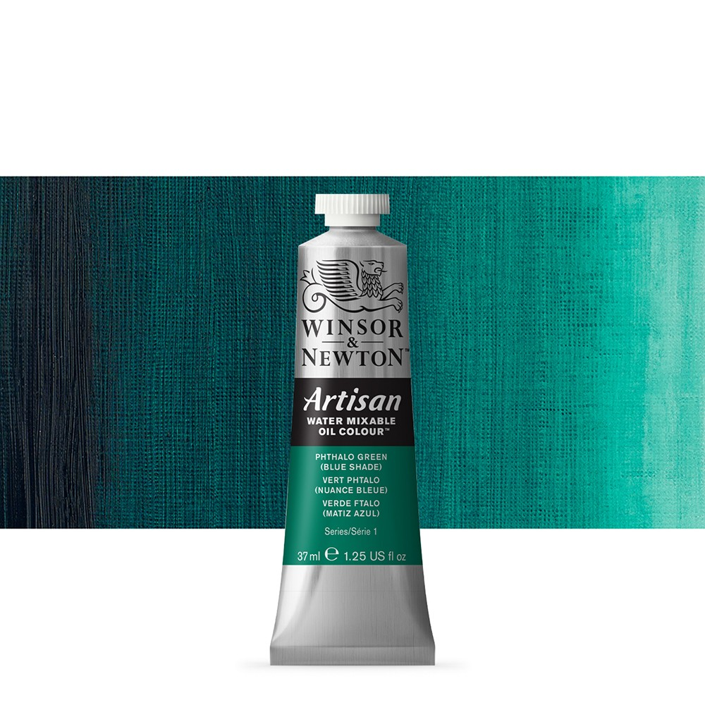 Winsor & Newton : Artisan Water Mixable Oil Paint : 37ml : Phthalo Green (Blue Shade)