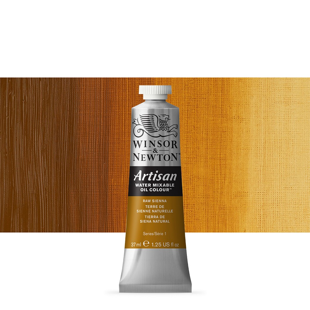 Winsor & Newton : Artisan Water Mixable Oil Paint : 37ml : Raw Sienna