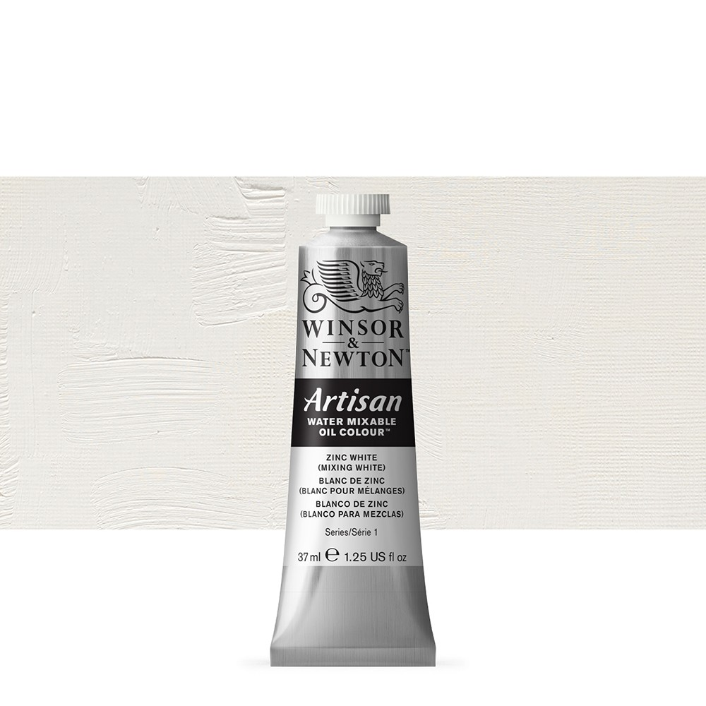 Winsor & Newton : Artisan Water Mixable Oil Paint : 37ml : Zinc White
