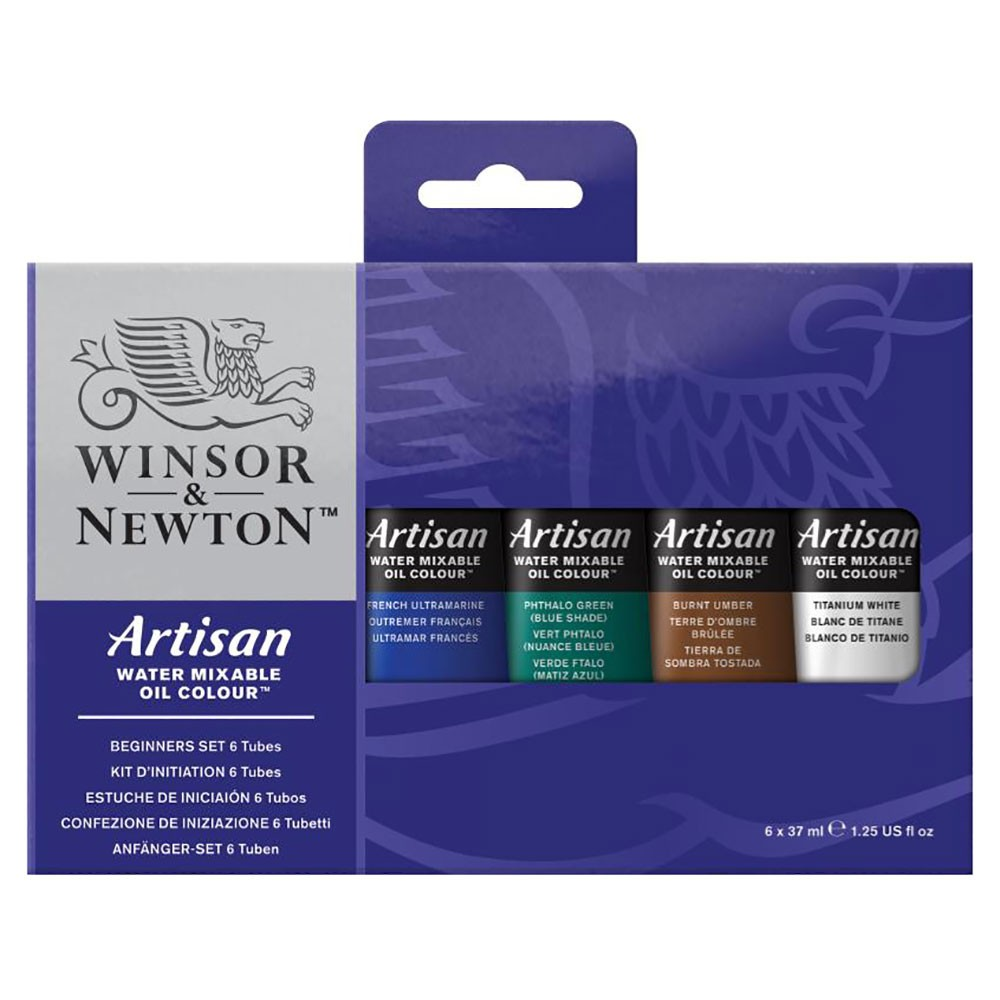 Winsor & Newton : Artisan : Watermixable Oil Colour : Beginners Set : 6x37ml