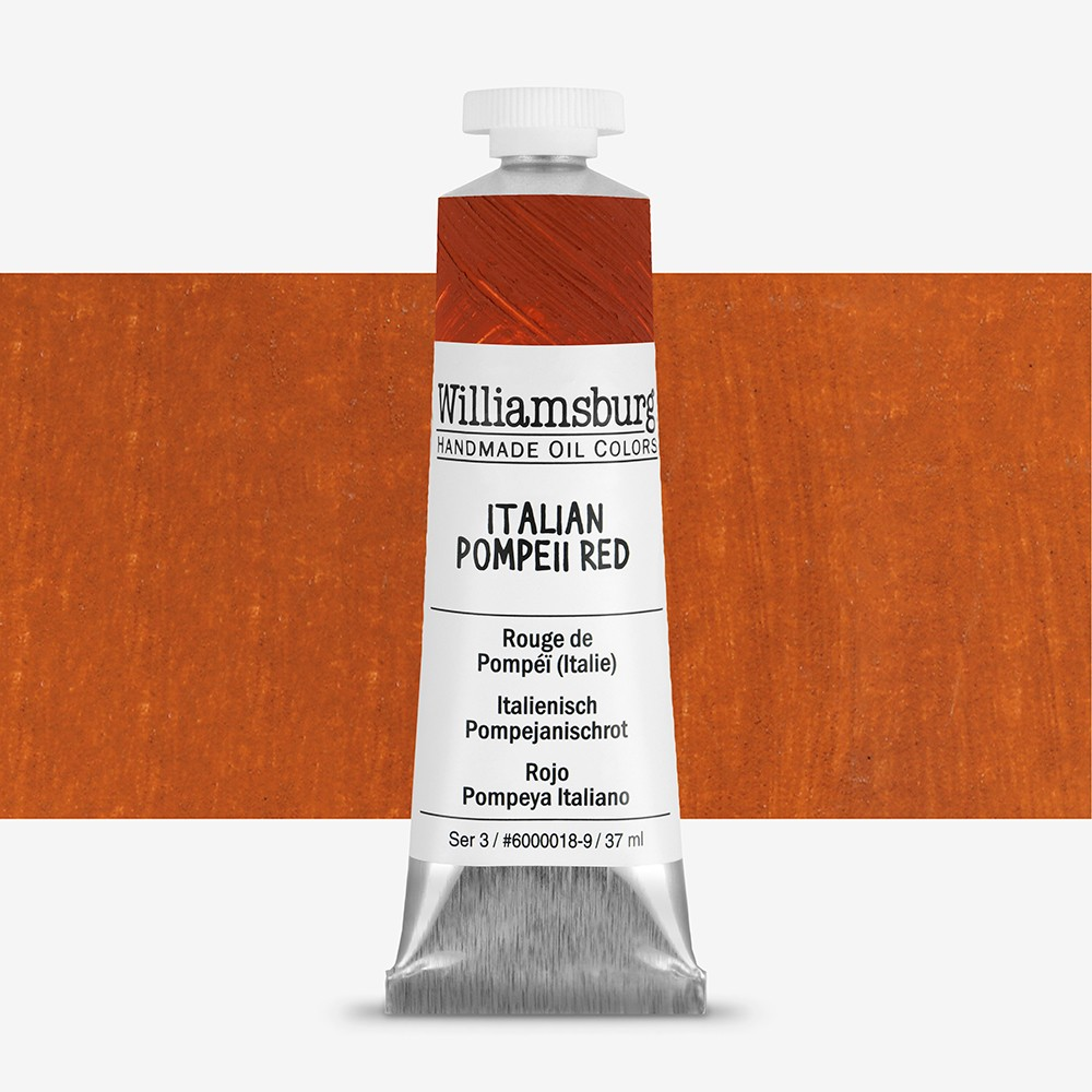 Williamsburg : Oil Paint : 37ml Italian Pompeii Red