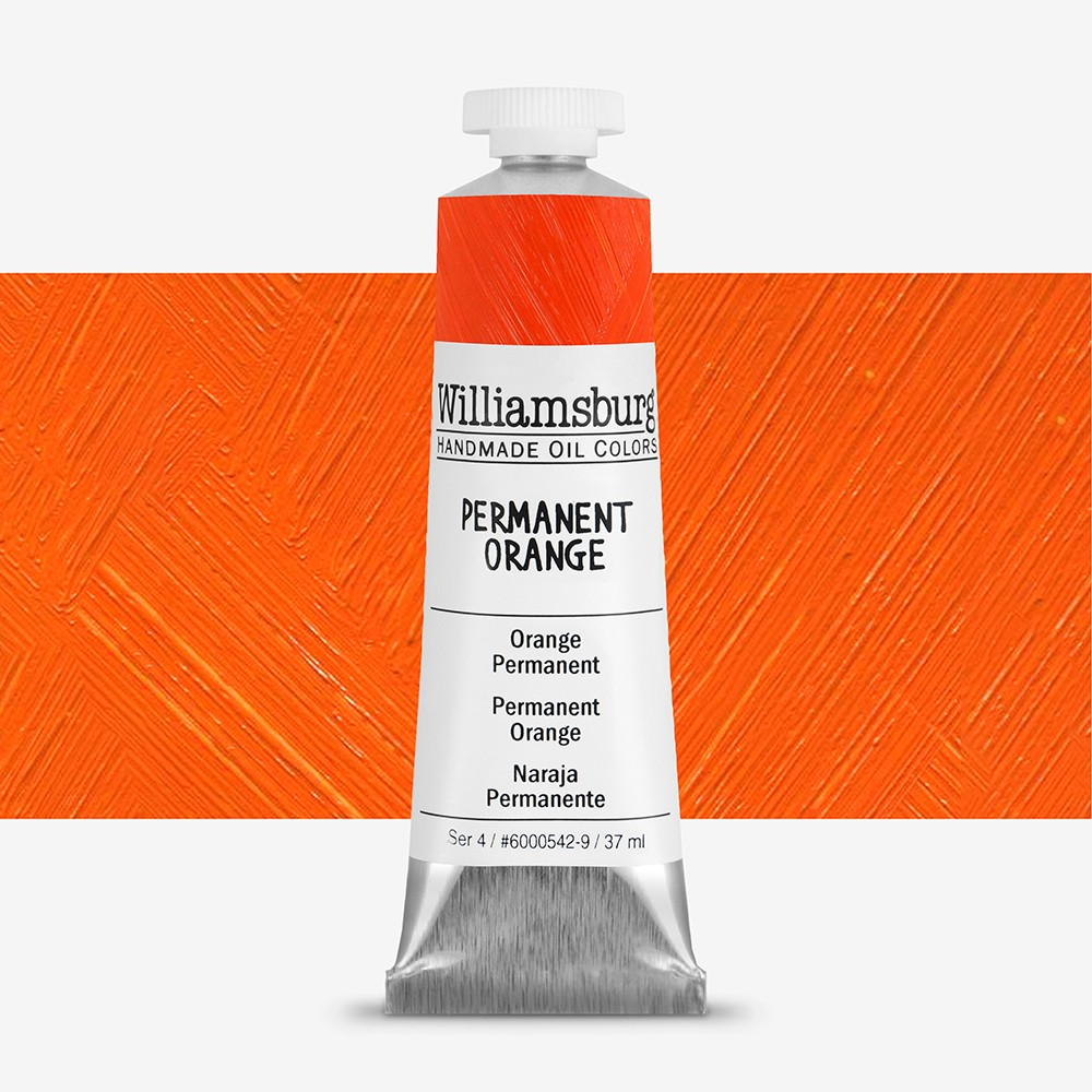 Williamsburg : Oil Paint : 37ml Permanent Orange