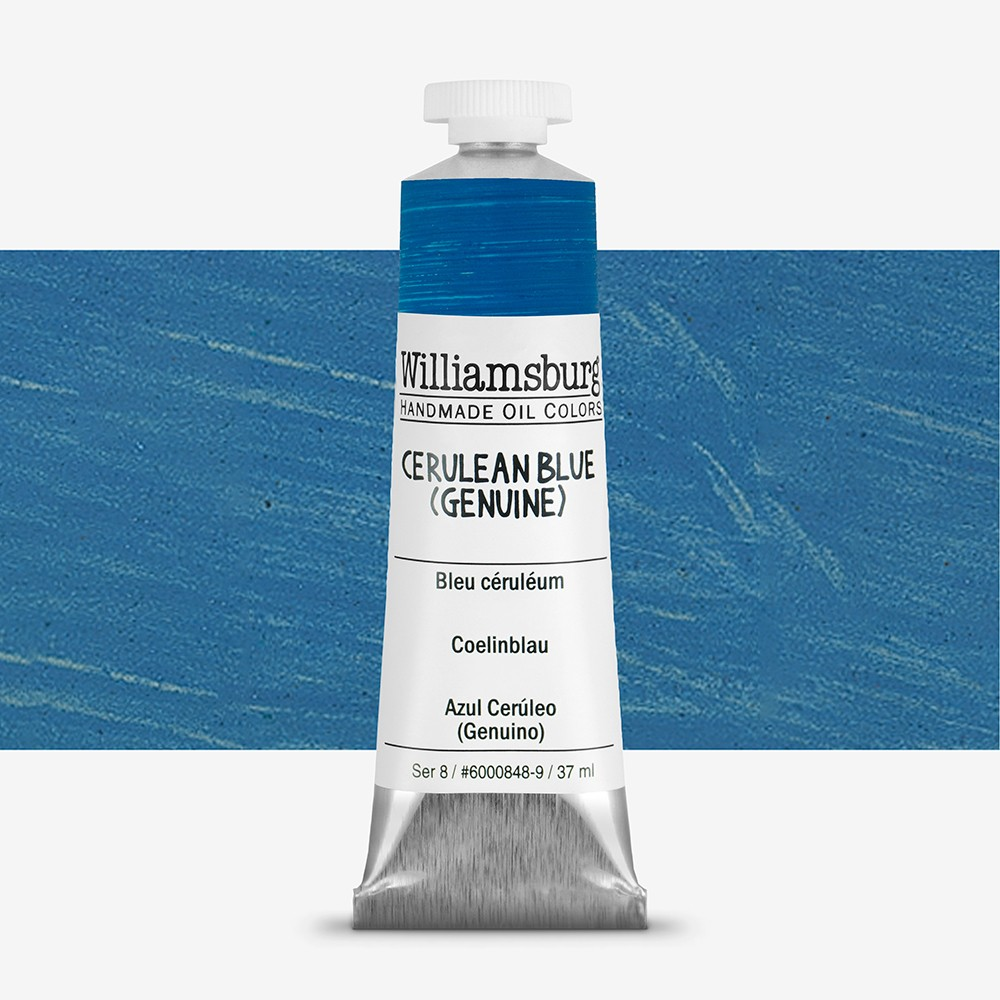 Williamsburg : Oil Paint : 37ml Cerulean Blue (Genuine)