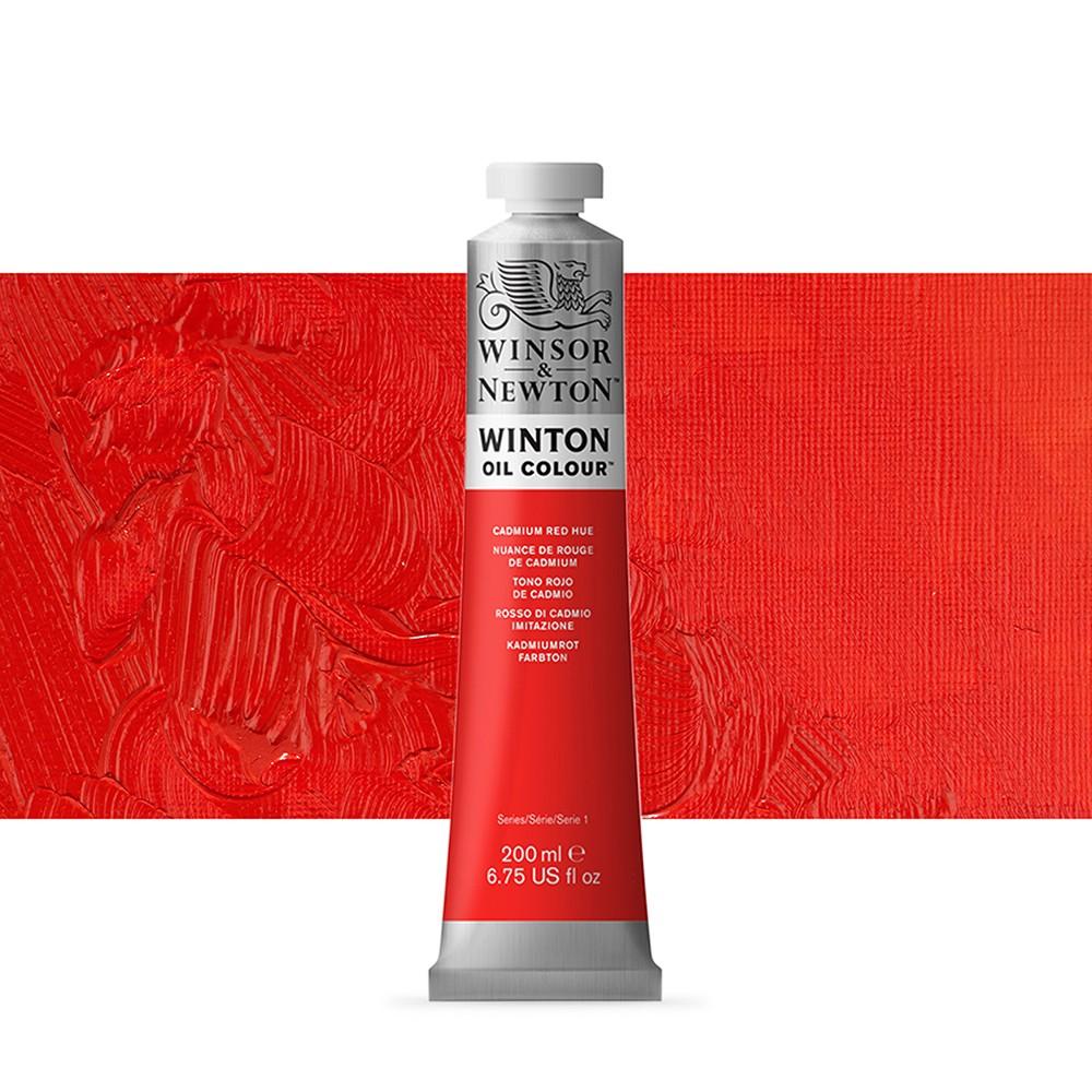 Winsor & Newton : Winton Oil Paint : 200ml : Cadmium Red Hue