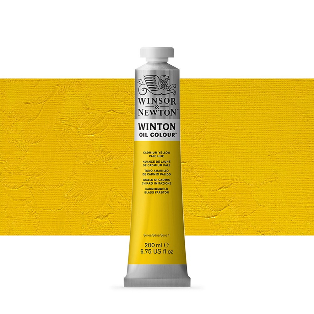 Winsor & Newton : Winton : Oil Paint : 200ml : Cadmium Yellow Pale Hue