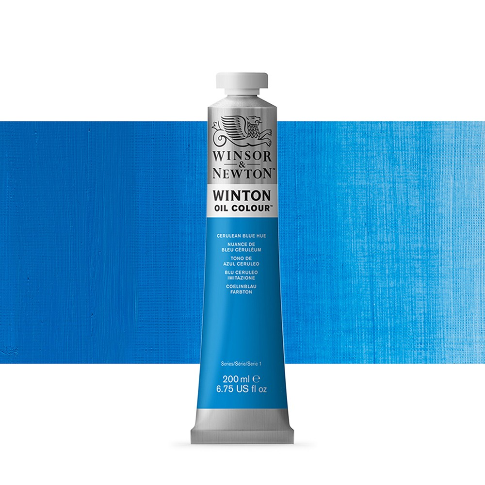 Winsor & Newton : Winton Oil Paint : 200ml : Cerulean Blue Hue
