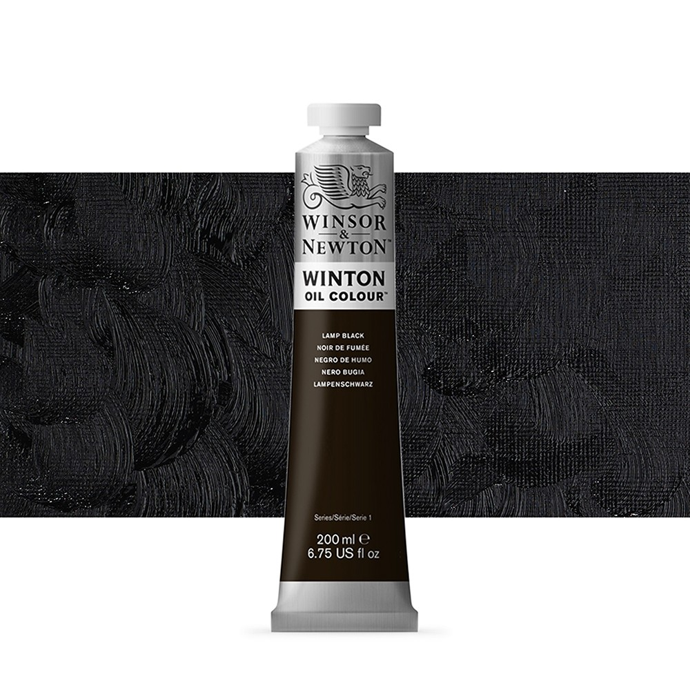 Winsor & Newton : Winton Oil Paint : 200ml : Lamp Black