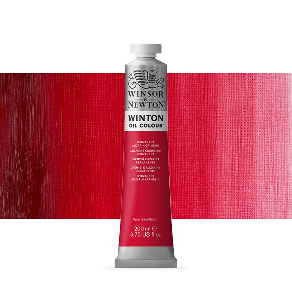 Winsor & Newton : Winton Oil Paint : 200ml : Permanent Alizarin Crimson