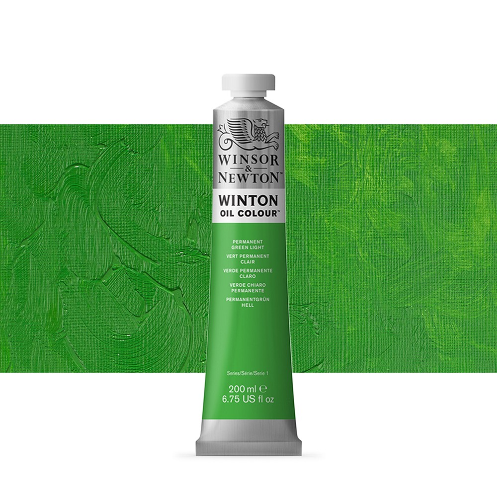 Winsor & Newton : Winton Oil Paint : 200ml : Permanent Green Light