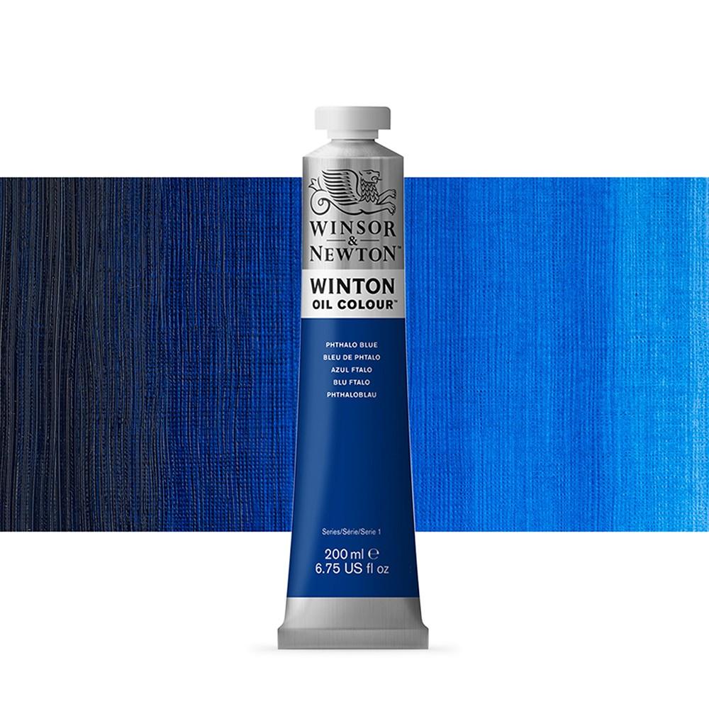 Winsor & Newton : Winton Oil Paint : 200ml : Phthalo Blue