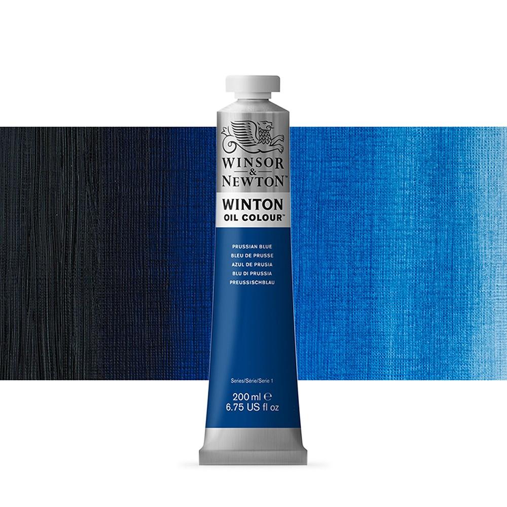 Winsor & Newton : Winton Oil Paint : 200ml : Prussian Blue