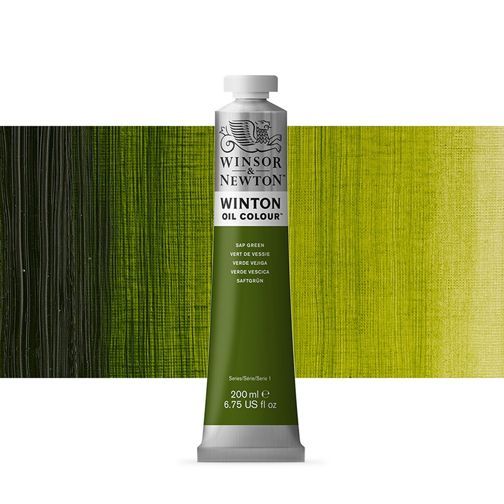 Winsor & Newton : Winton Oil Paint : 200ml : Sap Green