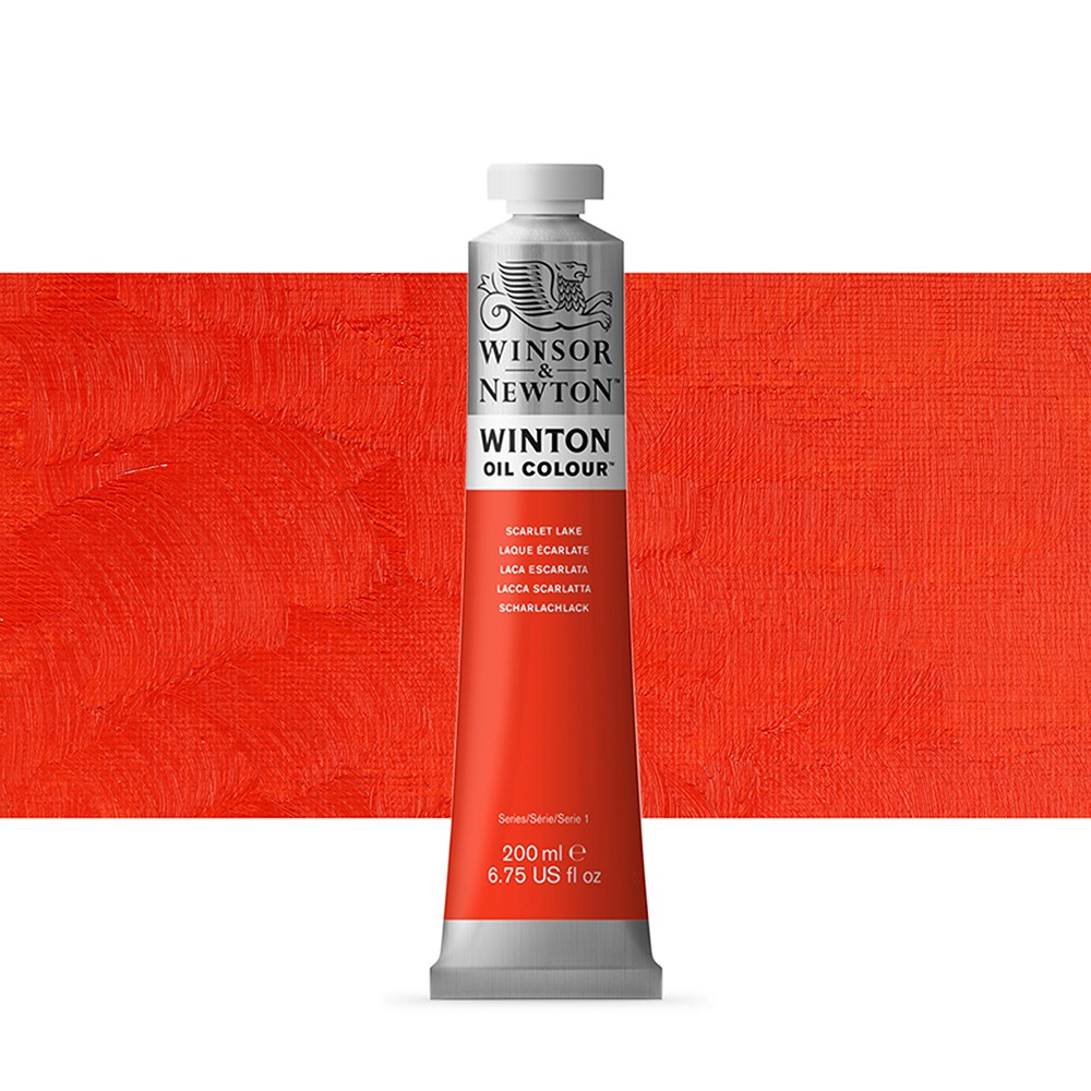 Winsor & Newton : Winton Oil Paint : 200ml : Scarlet Lake